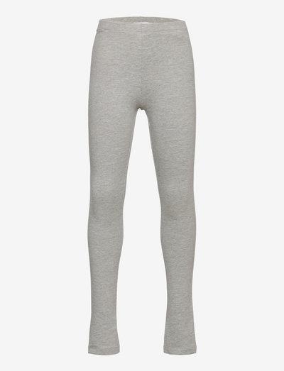 NKFDAVINA SOLID SWE LEGGING  BRU N - leggings - grey melange