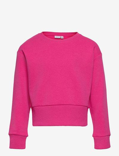 NKFNUKKA LS BOXY SHORT SWEAT BRU - sweatshirts - fuchsia purple