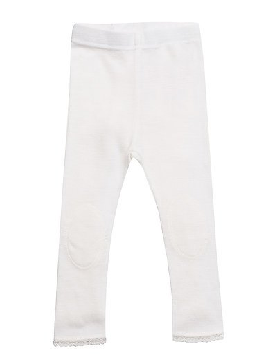 NITWANGFLO WOOL NEEDLE LEGGING MINI NOOS - SNOW WHITE