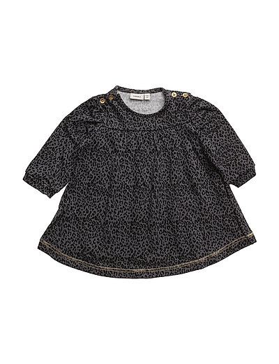 NITETTA LS SWE DRESS F NB - ASPHALT