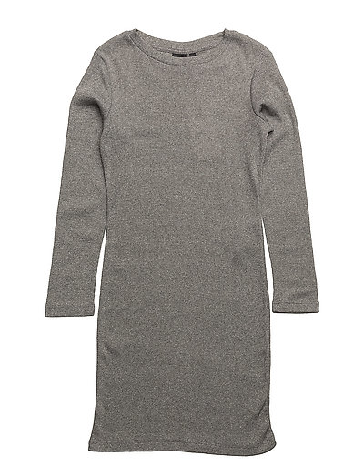 NITRAL LS DRESS F LMTD - GREY MELANGE