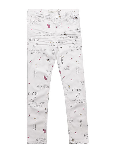 NKFPOLLY TWIAGIO ANCLE PANT AF - BRIGHT WHITE