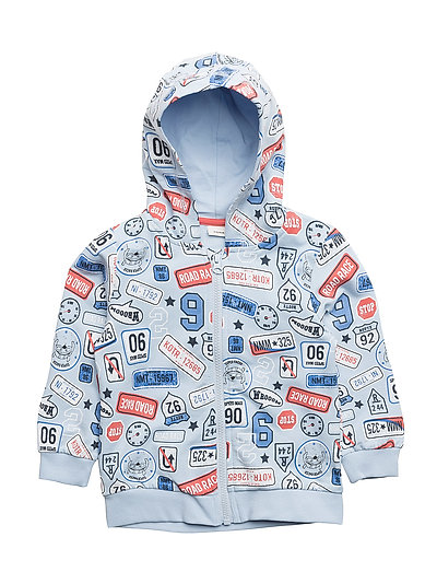 NMMERLAND SWE CARD W HOOD UNB - CASHMERE BLUE