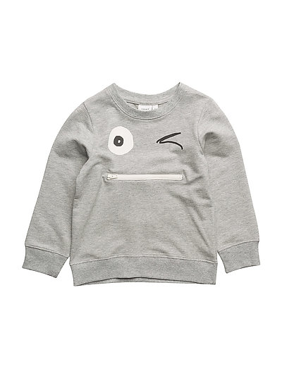NMMFACOOL LIGHT SWEAT UNB - GREY MELANGE