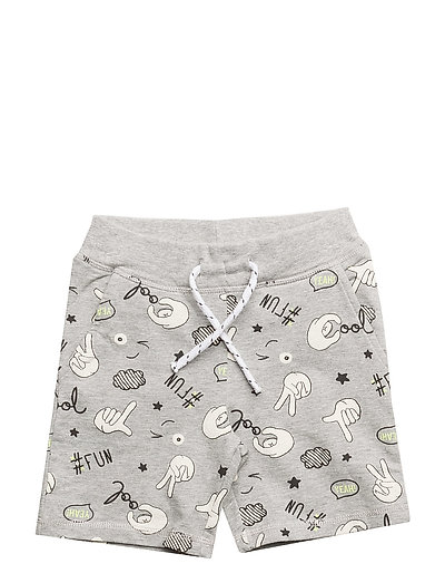 NMMFABOOMY SWE LONG SHORTS UNB - GREY MELANGE