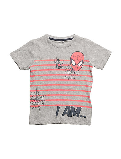 NMMSPIDERMAN GLYN SS TOP WDI - GREY MELANGE