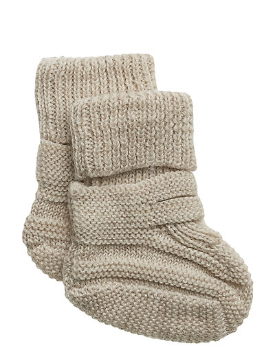 NBNWRUNI WOOL KNIT SLIPPERS UNI - PEYOTE