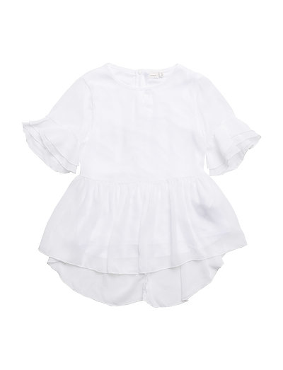 NKFKATILLA SS TOP - BRIGHT WHITE