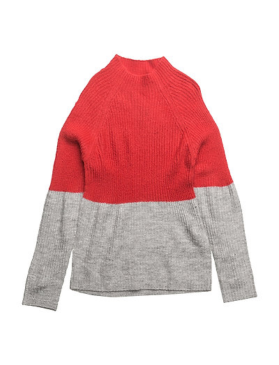 NITHOFIA LS KNIT W. TURTLE NECK F NMT - TRUE RED