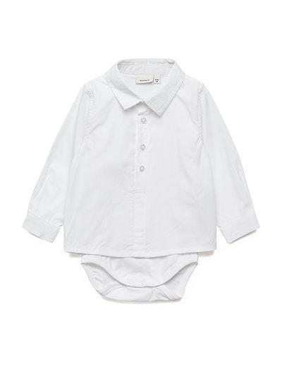 NBMRIFUS LS SHIRT BODY - BRIGHT WHITE