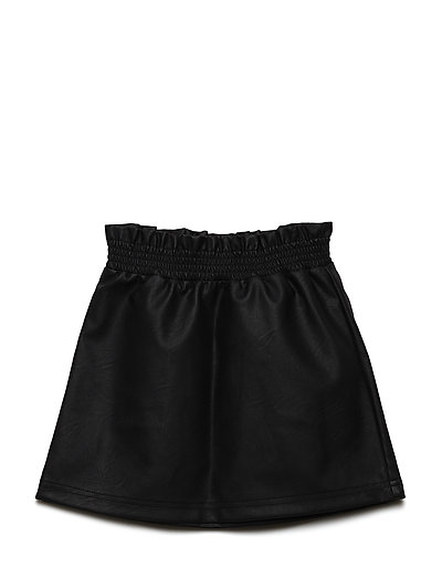 NKFNAFUR PU SKIRT - BLACK