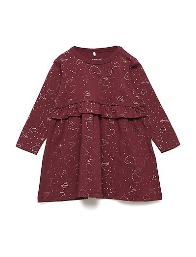 NBFRISTAR LS DRESS - ZINFANDEL