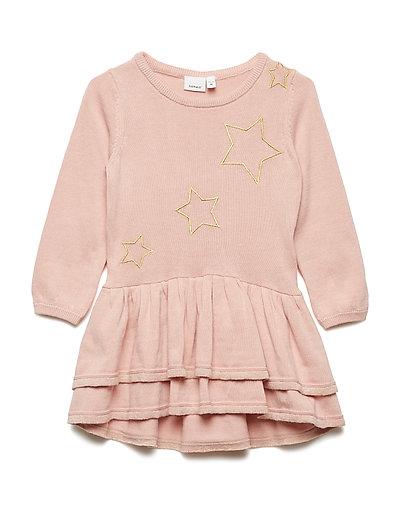 NMFRAXI LS KNIT DRESS - ROSE CLOUD