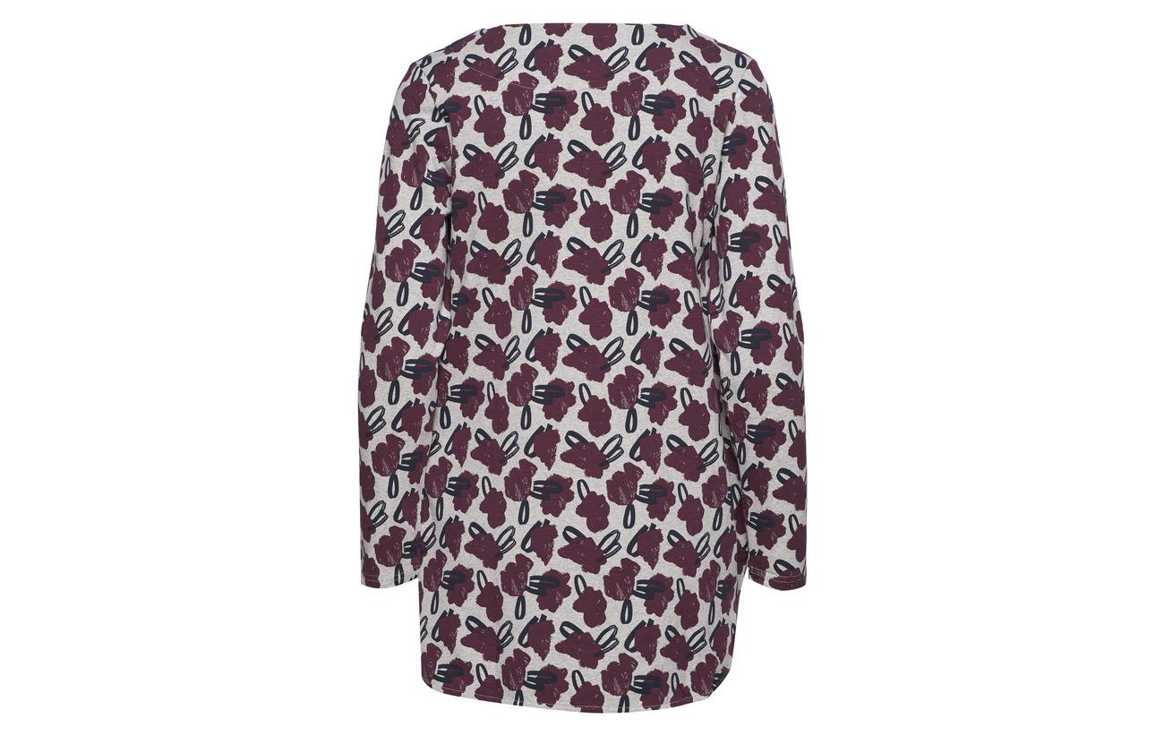 Nanso 95 Coton 5 Elastane Burgundy Ladies Tunic Asteri r7xfrnI