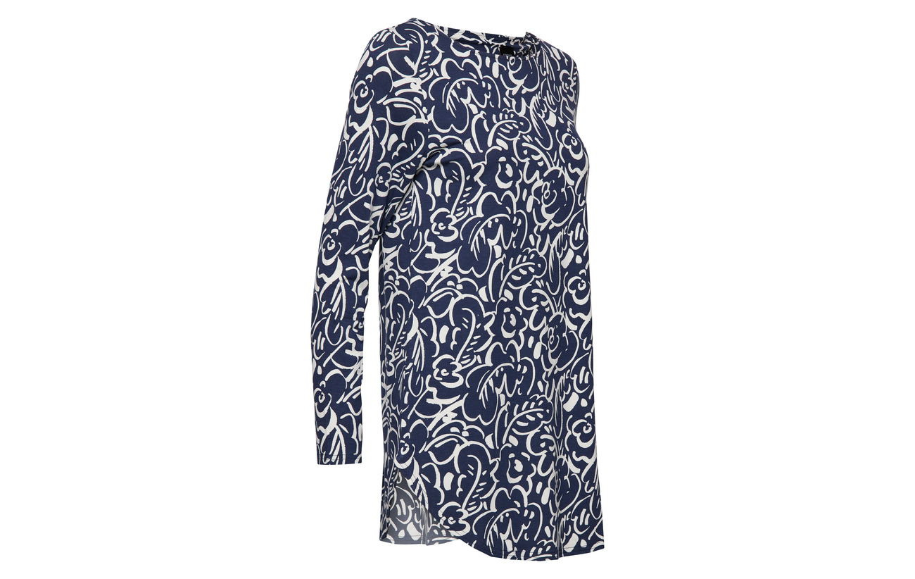 Ladies Viscose 5 95 Dark Nanso Telma Elastane Tunic Blue UAxqA7dn