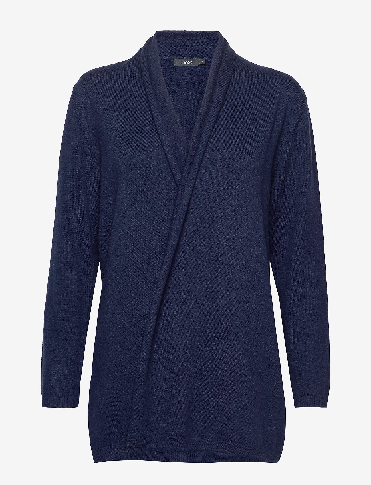 Nanso - Ladies knit cardigan, Villis - neuletakit - dark blue - 0