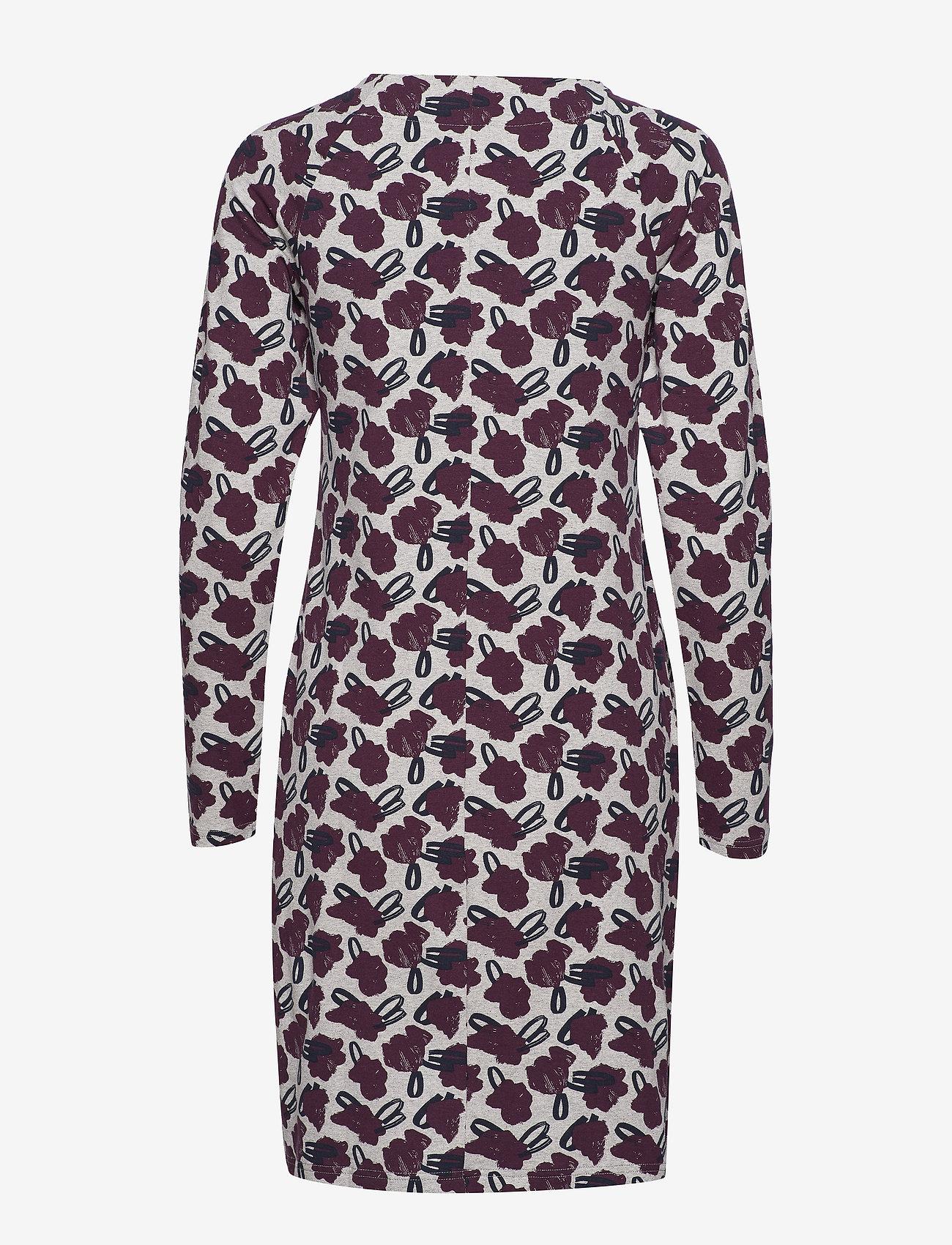 Nanso - Ladies dress, Asteri - midi kjoler - burgundy - 1