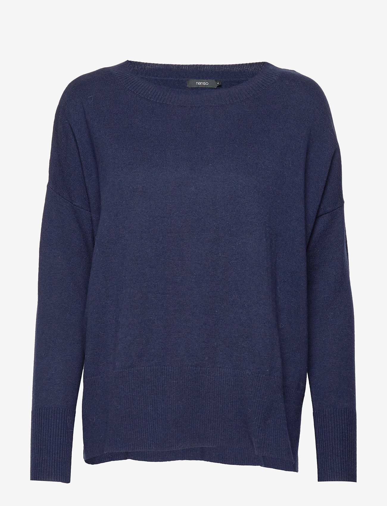 Nanso - Ladies knit sweater, Villis - neulepuserot - dark blue - 0