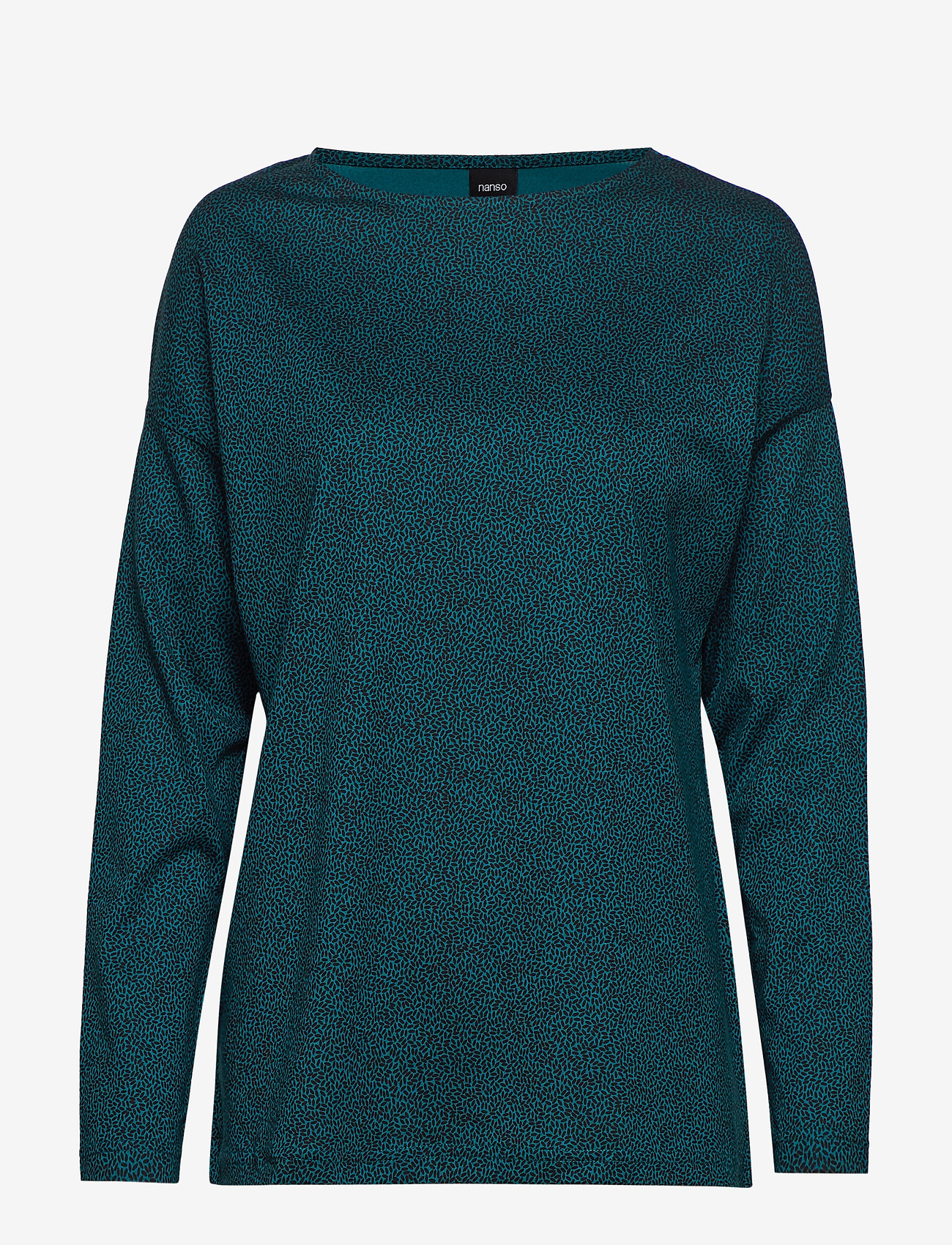 Nanso - Ladies blouse, Riisi - swetry - petrol - 0