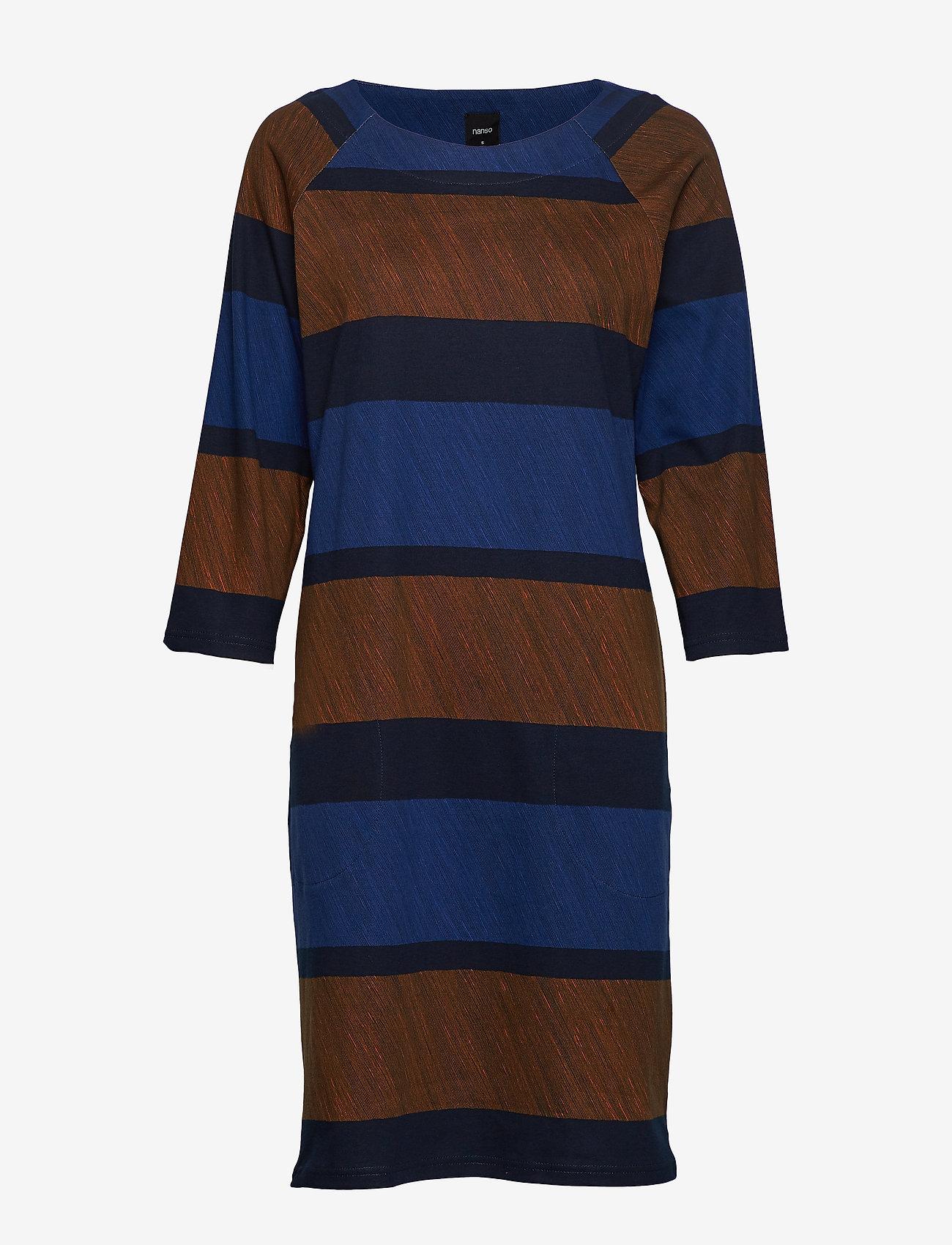 Nanso - Ladies dress, Puomi - midimekot - blue - 0