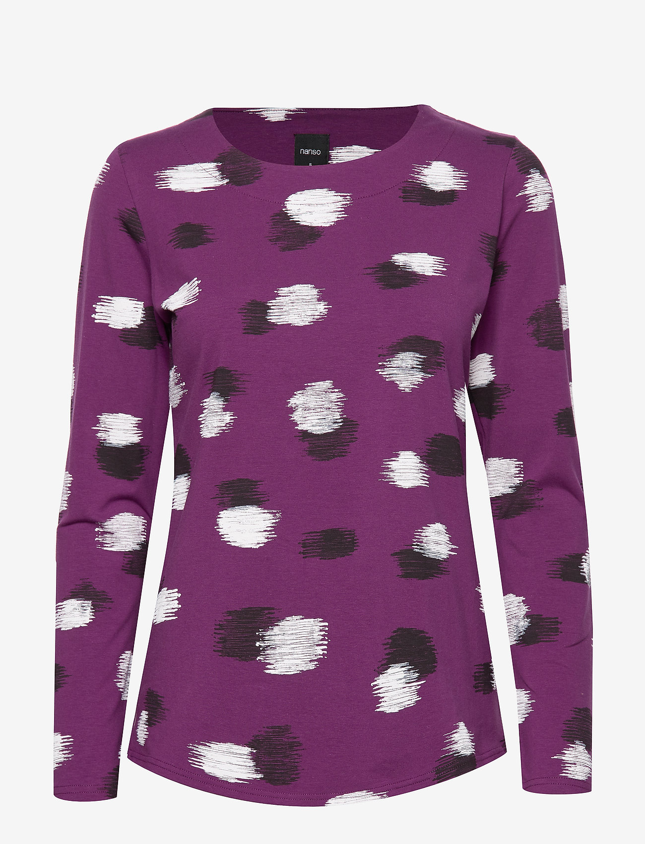 Nanso - Ladies blouse, Kastanja - pitkähihaiset t-paidat - purple - 0