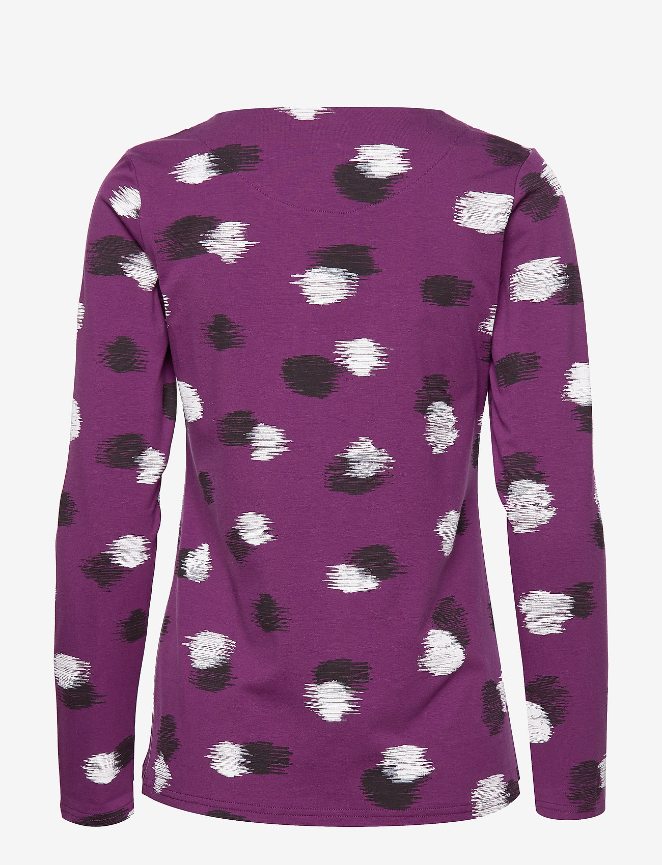 Nanso - Ladies blouse, Kastanja - pitkähihaiset t-paidat - purple - 1