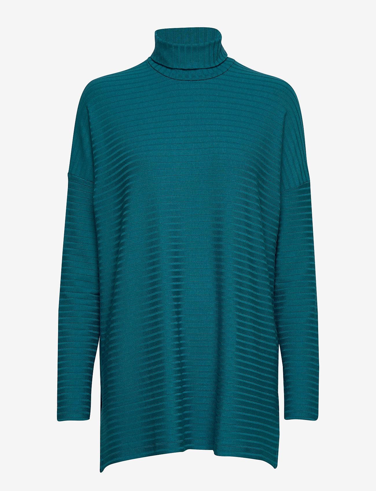 Nanso - Ladies tunic, Rib - poolopaidat - petrol - 0