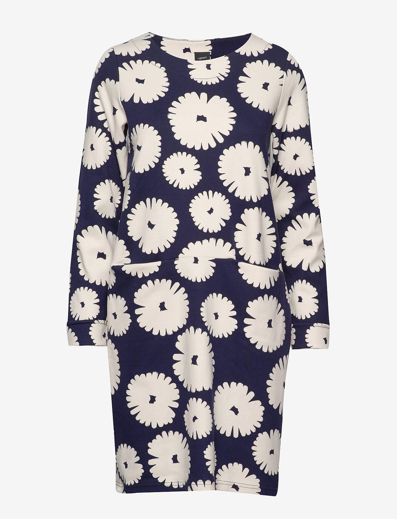 Nanso - Ladies dress, Mimosa - midi kjoler - dark blue - 0