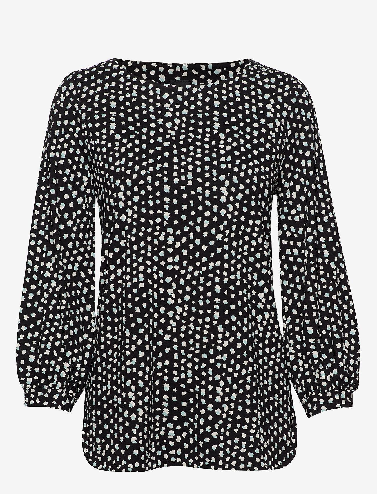 Nanso - Ladies blouse, Dippi - pitkähihaiset t-paidat - black - 0