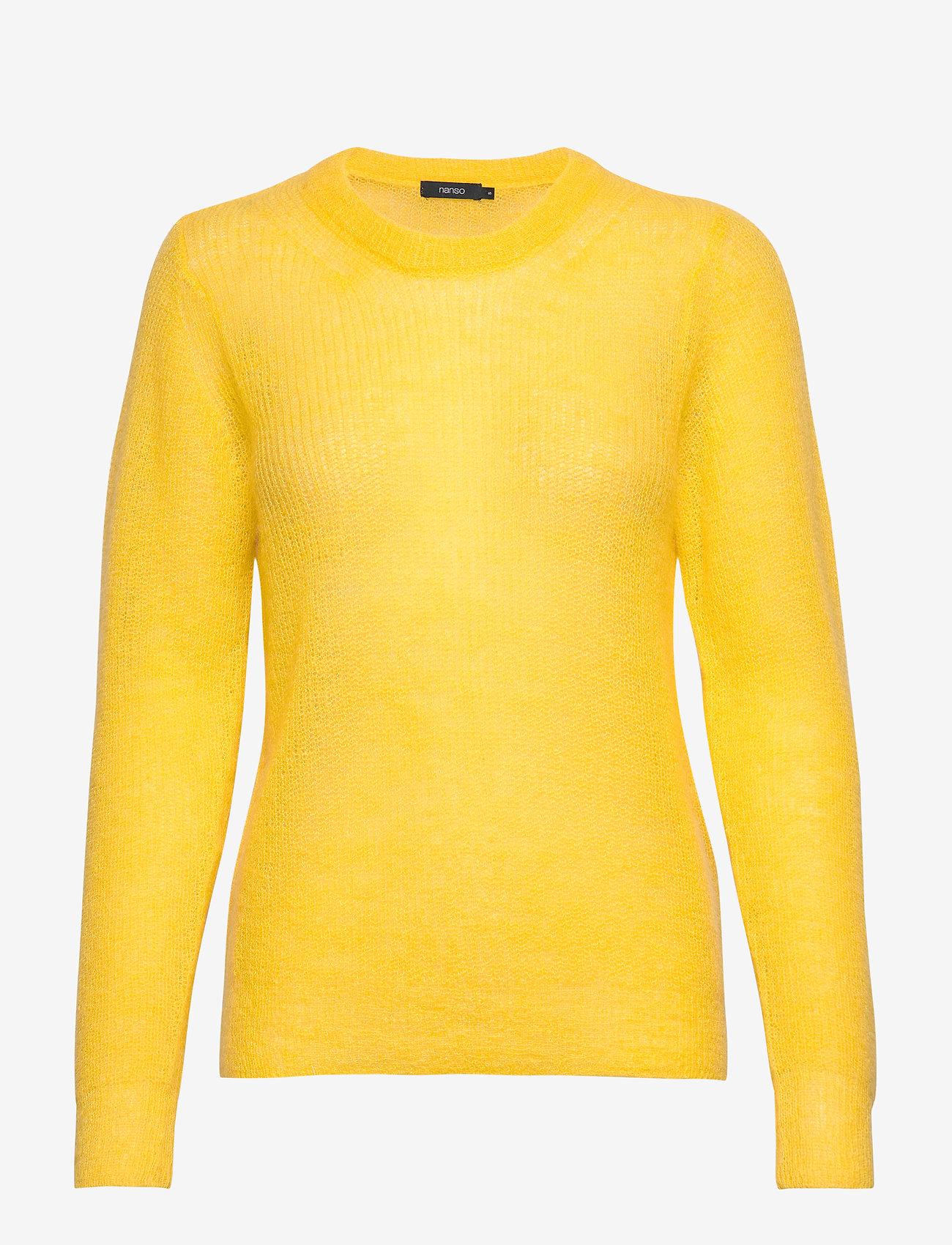 Nanso - Ladies knit sweater, Kuura - neulepuserot - yellow - 0