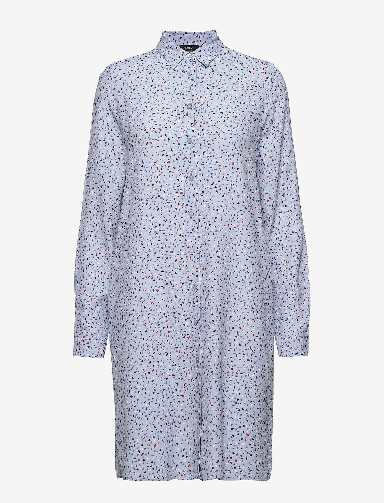 Nanso - Ladies shirt, Siru - robes chemises - grey - 0