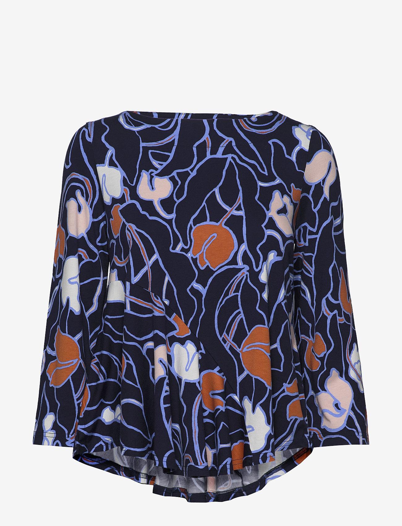 Nanso - Ladies blouse, Iiris - long sleeved blouses - dark blue - 0