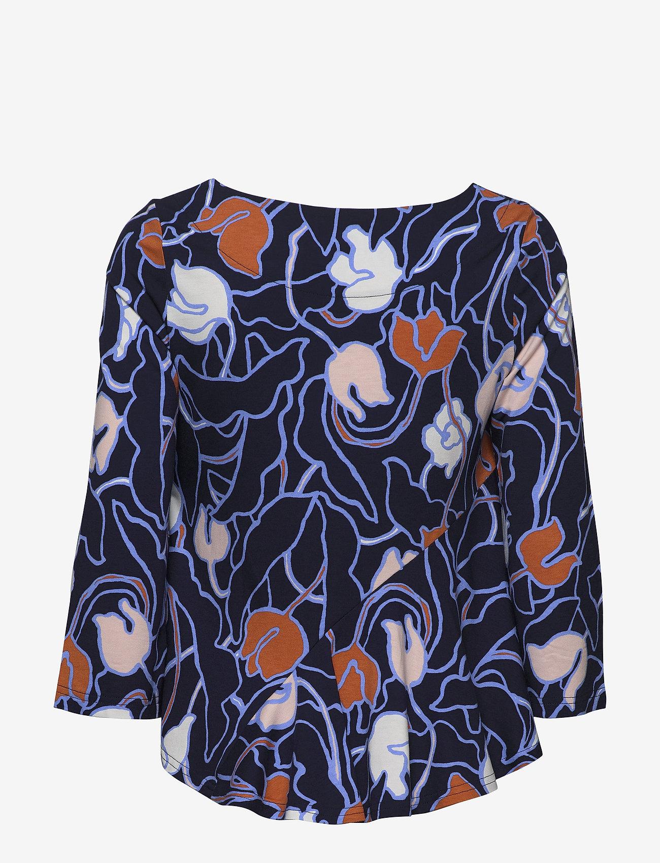 Nanso - Ladies blouse, Iiris - bluzki z długimi rękawami - dark blue - 1