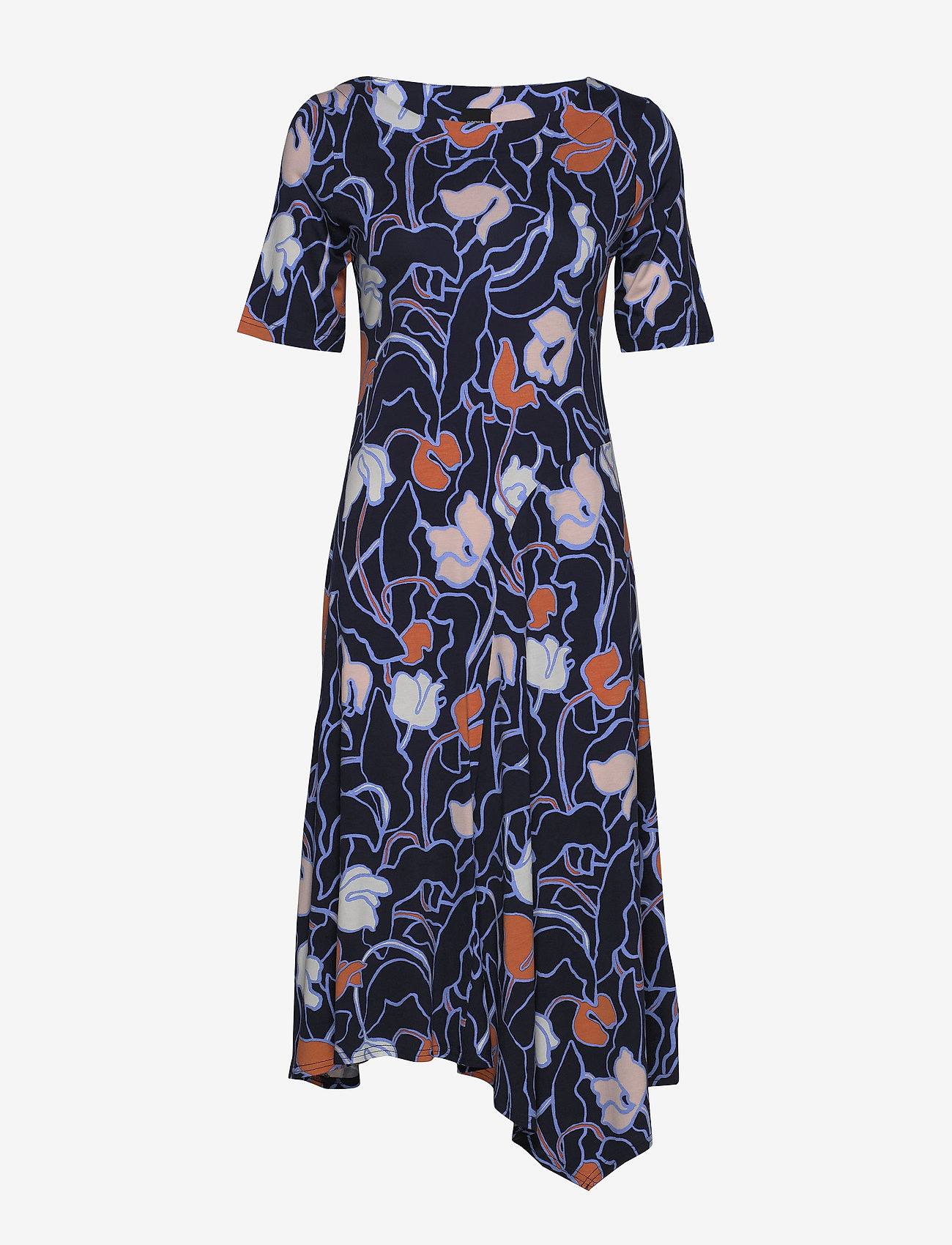 Nanso - Ladies dress, Iiris - robes midi - dark blue - 0