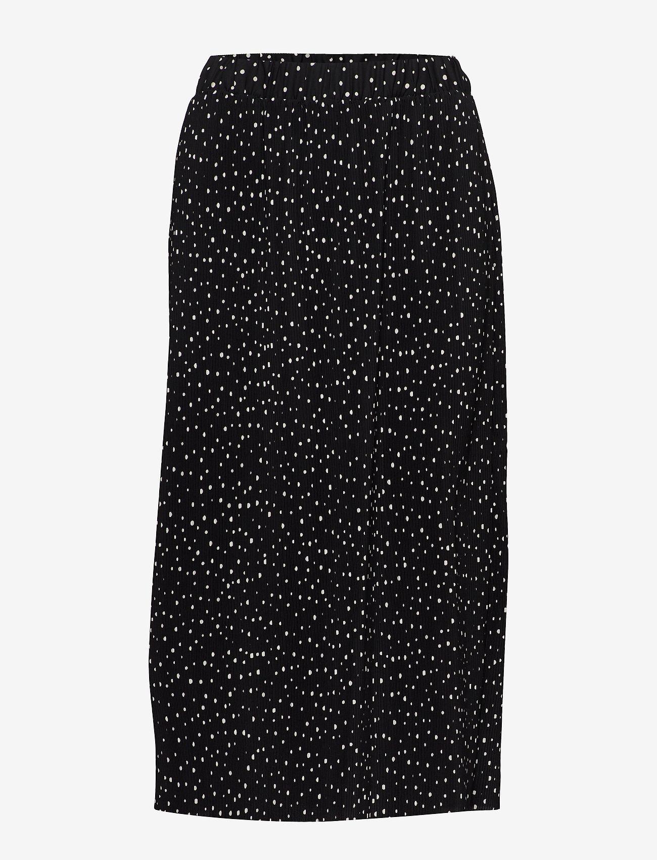 Nanso - Ladies skirt, Helinä - midinederdele - black - 0