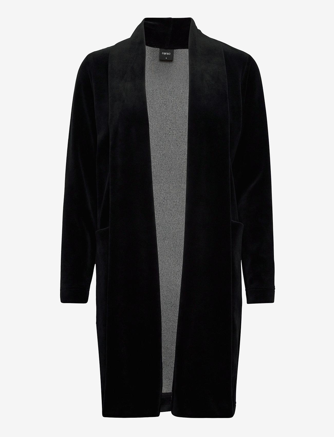 Nanso - Ladies dressing gown, Vivia - bathrobes - black - 0
