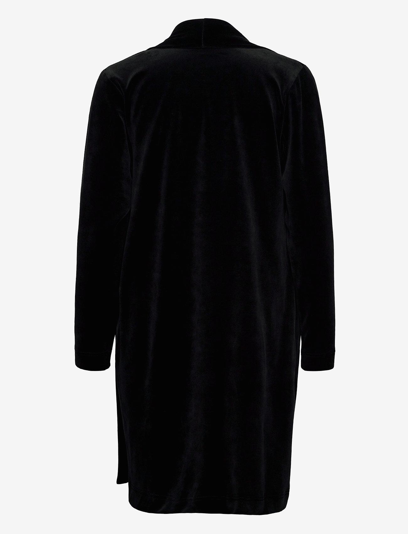 Nanso - Ladies dressing gown, Vivia - bathrobes - black - 1