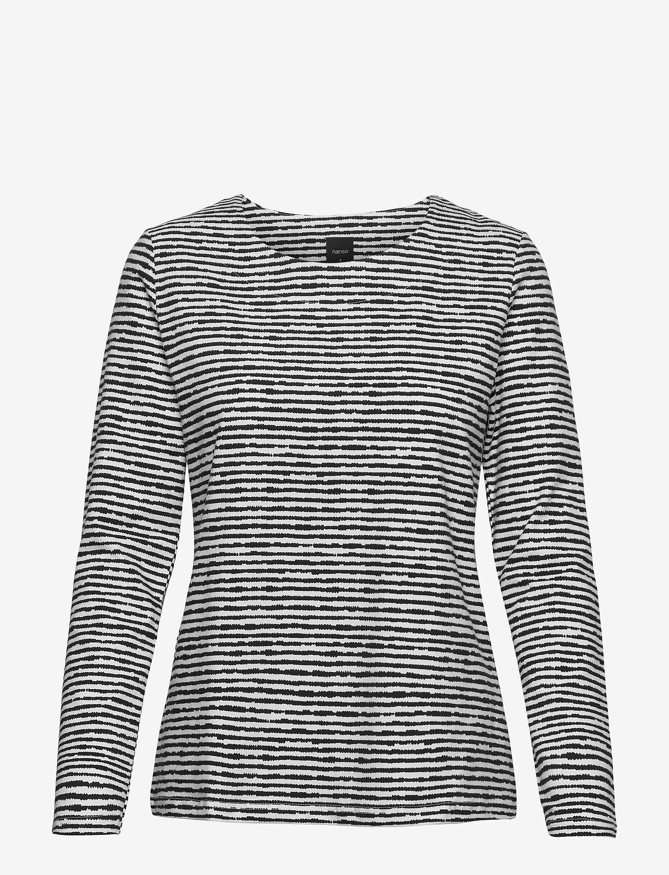 Nanso - Ladies blouse, Aprilli - tops met lange mouwen - black and white - 0