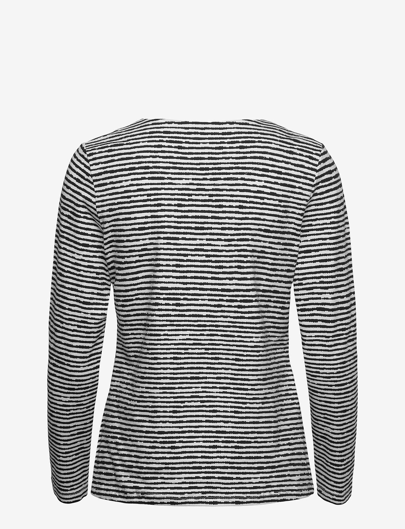 Nanso - Ladies blouse, Aprilli - tops met lange mouwen - black and white - 1