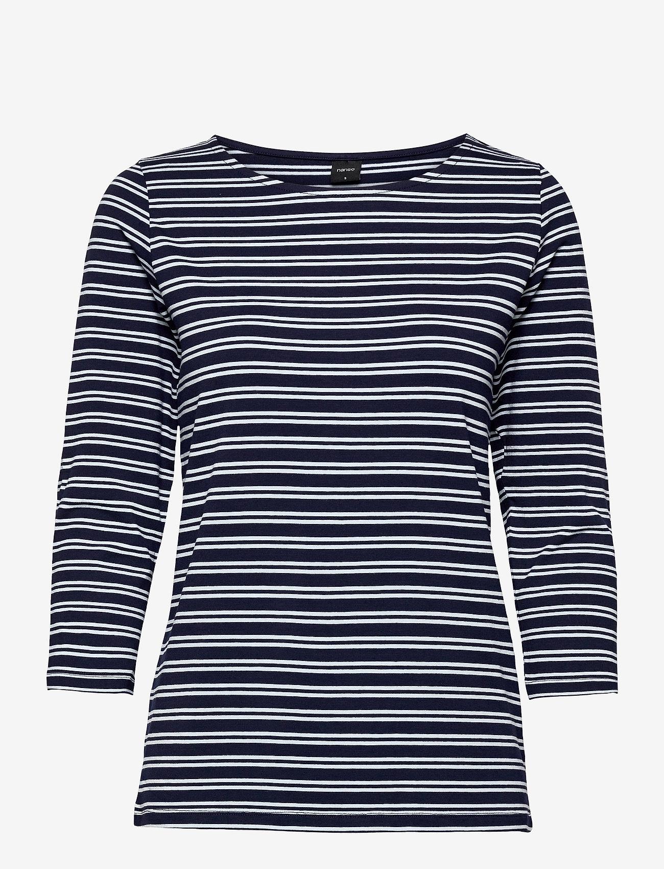 Nanso - Ladies blouse, Virna - tops met lange mouwen - blue - 0