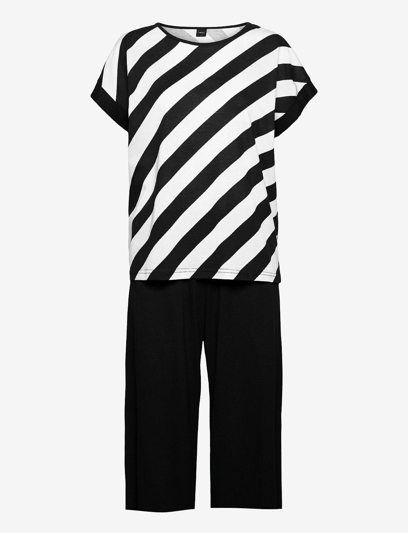 Nanso - Ladies pyjamas, Kulma - pyjamas - black and white - 0