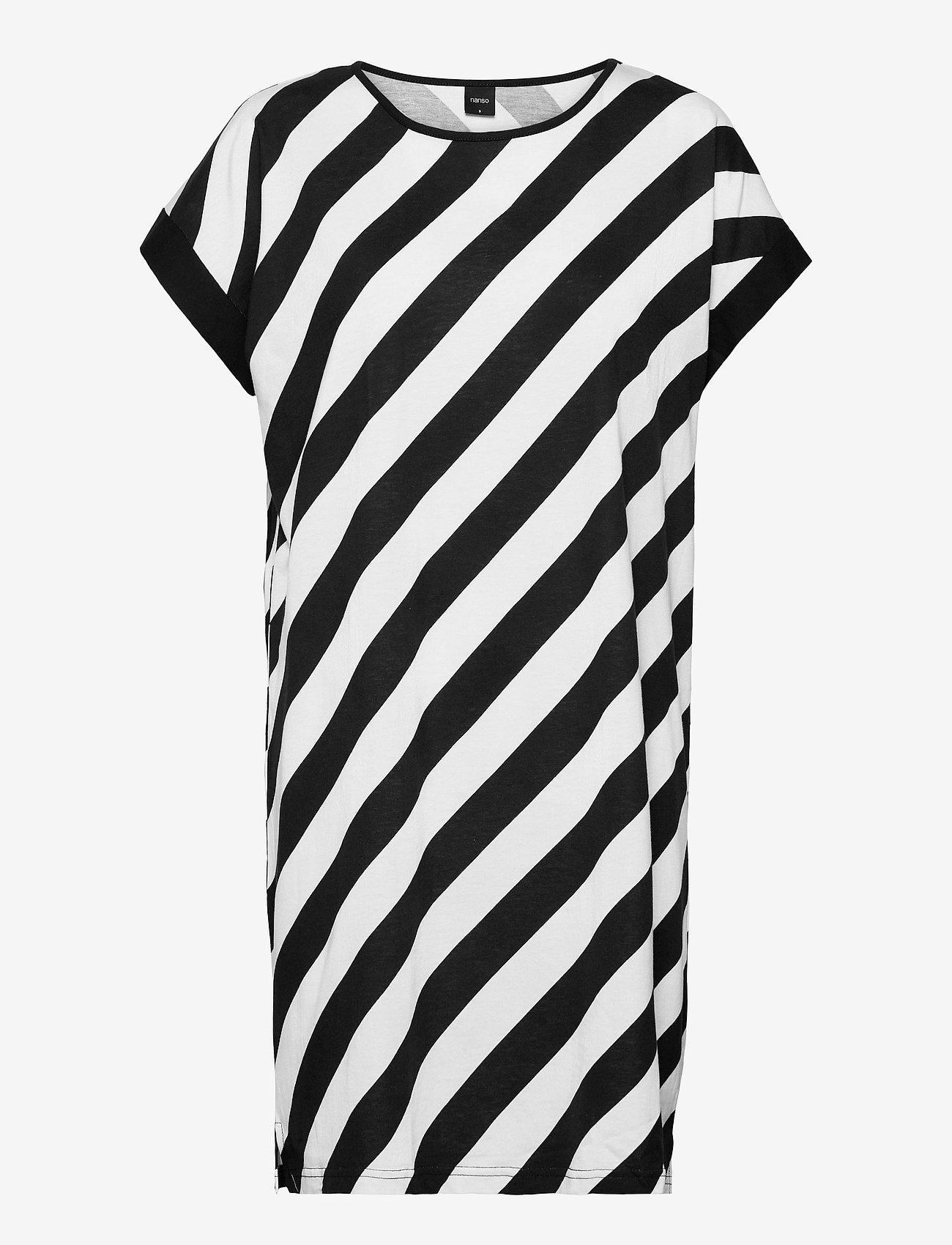 Nanso - Ladies big shirt, Kulma - nightdresses - black and white - 0