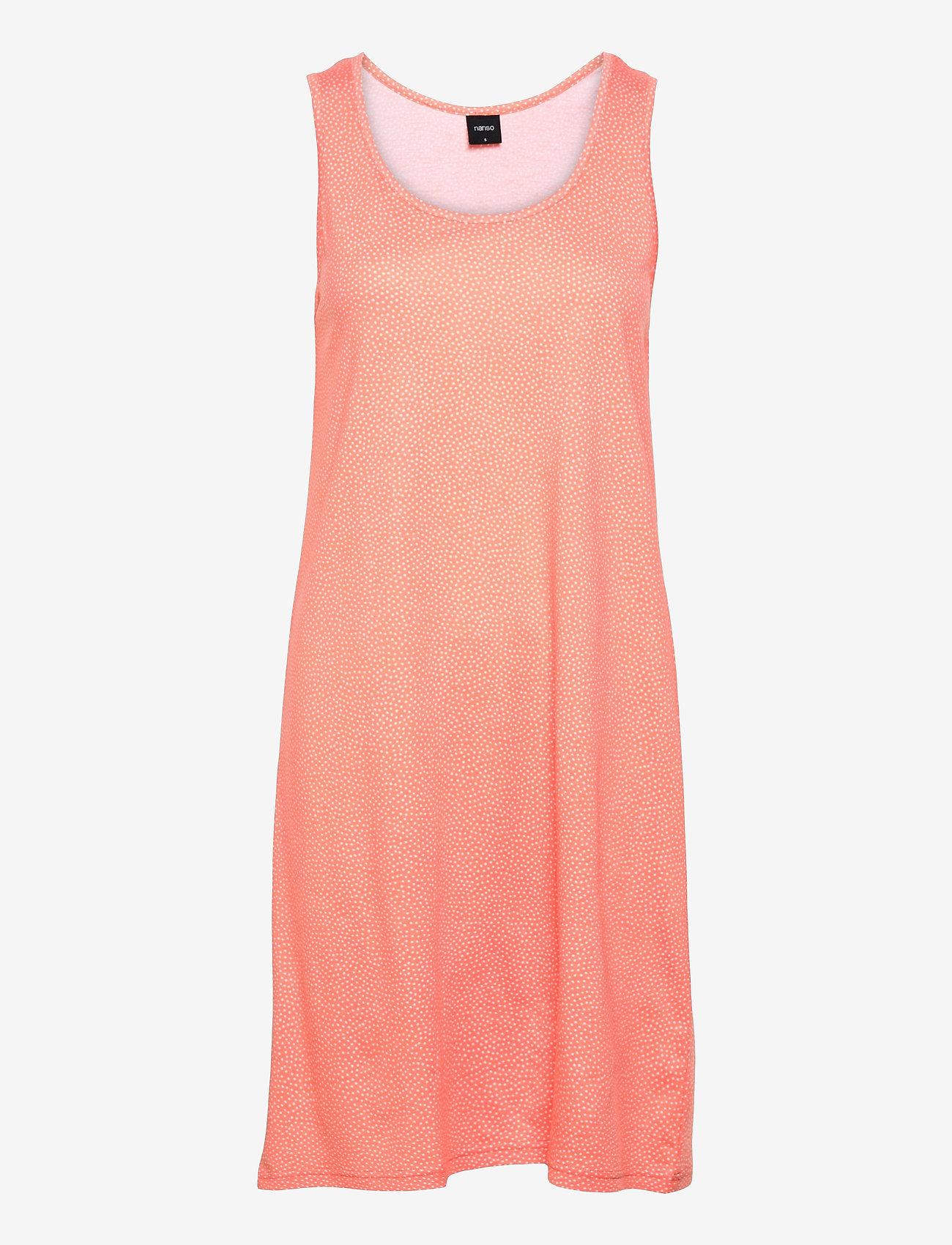 Nanso - Ladies big shirt, Pilkut - nightdresses - red - 0