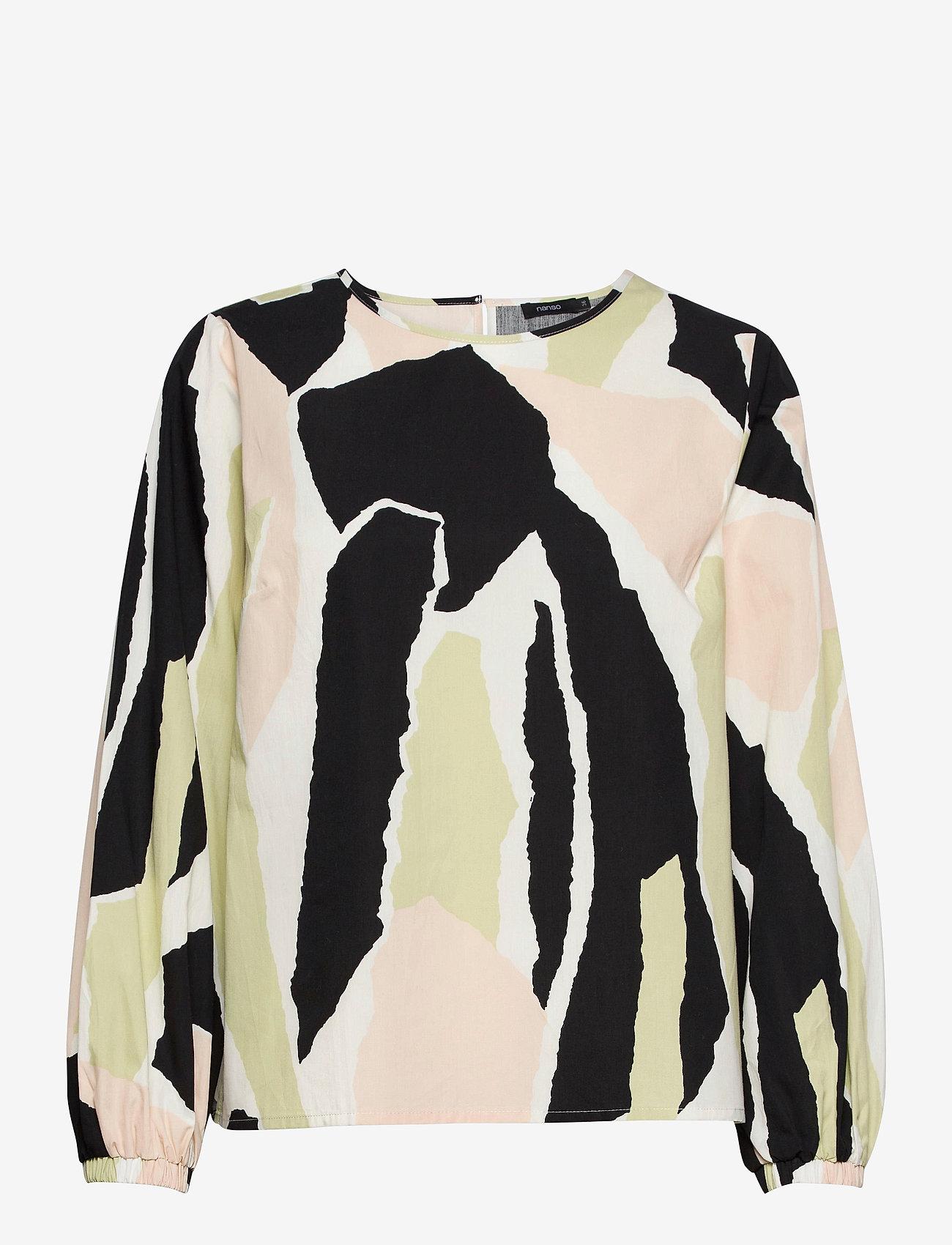 Nanso - Ladies blouse, Särö - blouses met lange mouwen - beige - 0