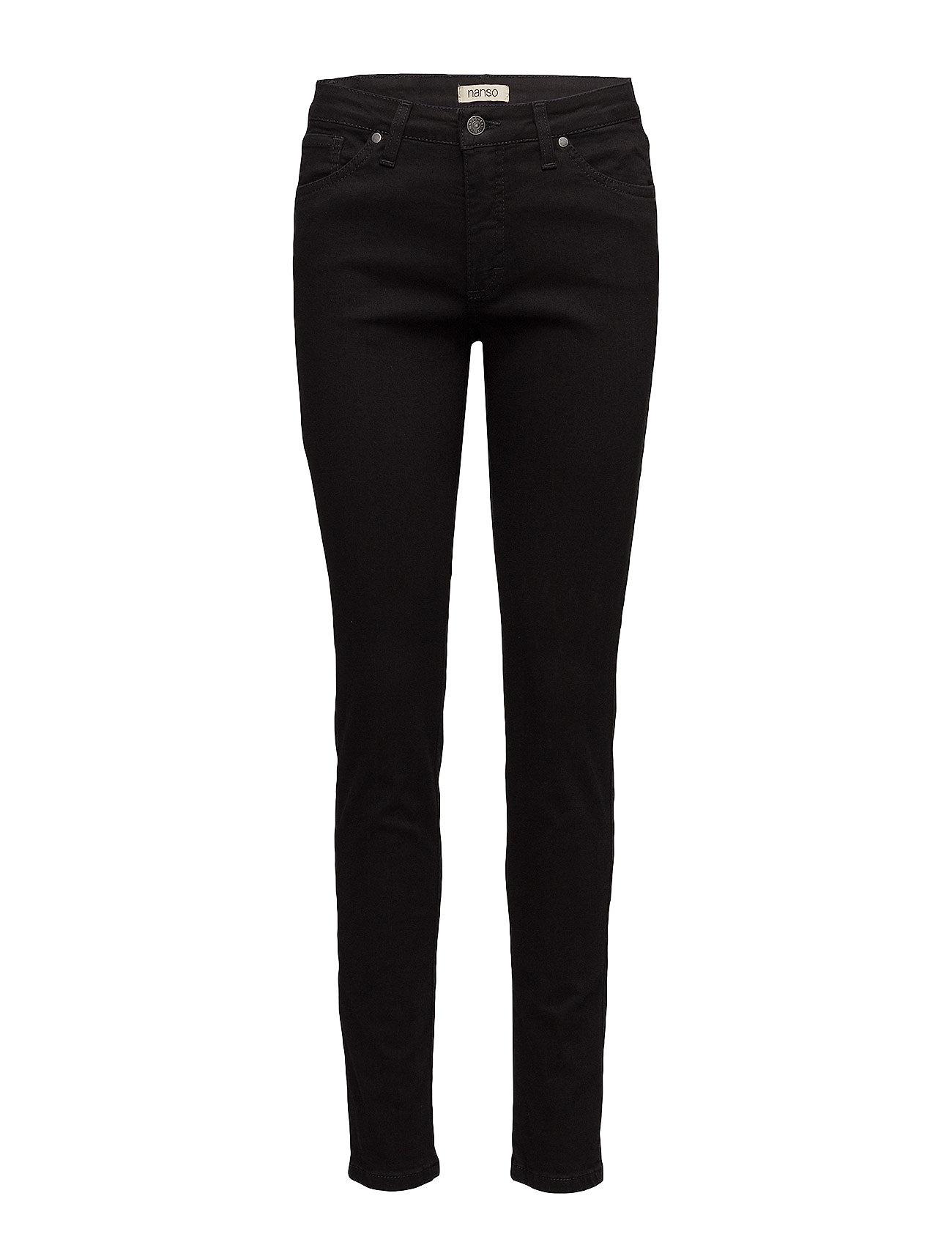 Nanso Ladies jeans, Viistasku - BLACK