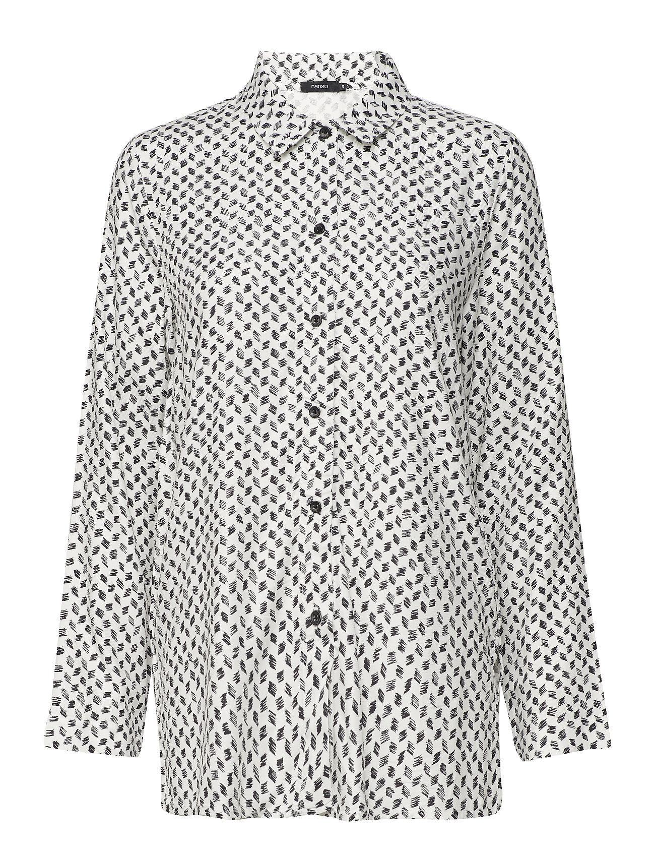 Nanso Ladies shirt, Vinoruutu - WHITE
