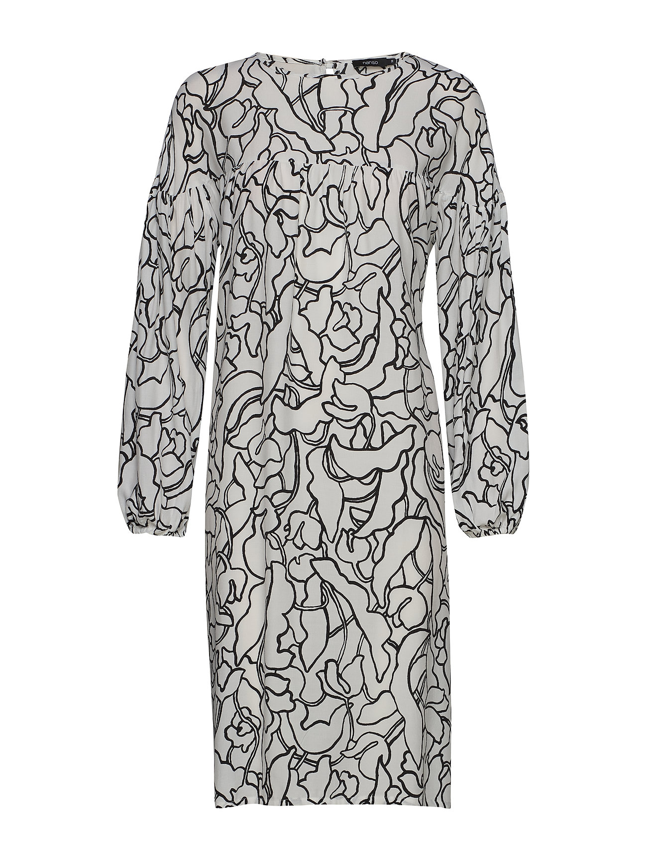 Nanso Ladies dress, Pikku Iiris - BLACK-WHITE