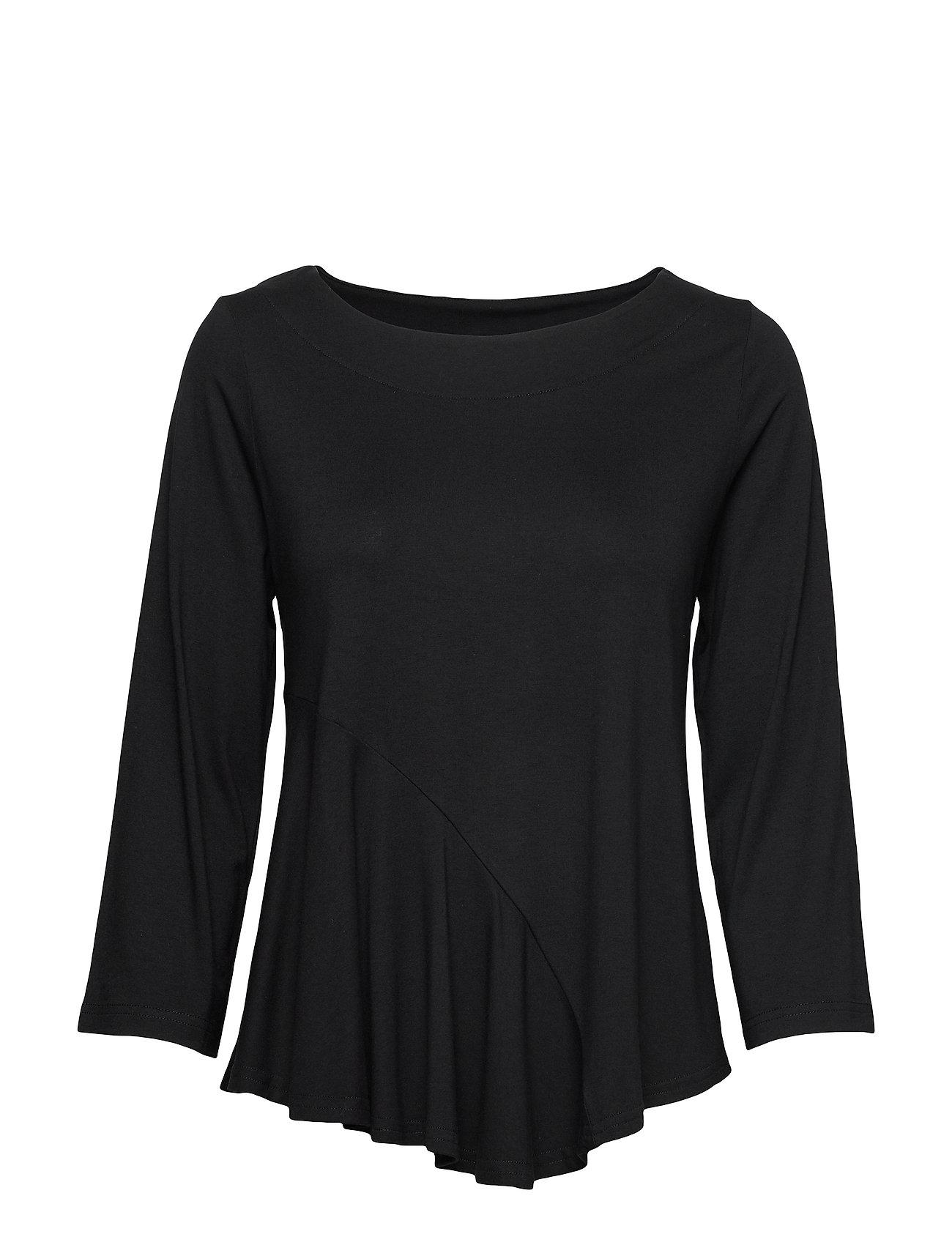 Ladies Blouse, Lulu T-shirts & Tops Long-sleeved Musta Nanso