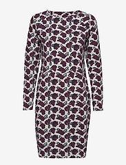 Nanso - Ladies dress, Asteri - midi kjoler - burgundy - 0