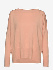 Nanso - Ladies knit sweater, Villis - neulepuserot - pink - 0